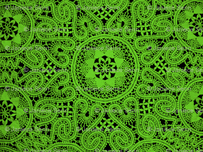 Lime Green Lace
