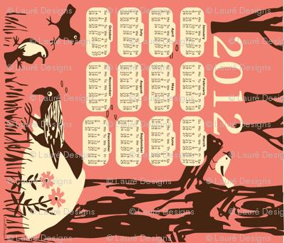 Birds in the forest- 2012 tea towel