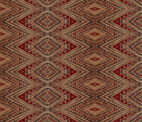 Old Tribal Rug fabric by susaninparis on Spoonflower - custom fabric