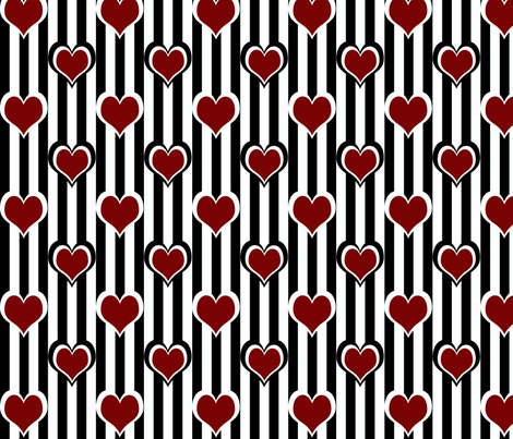 Black 'n' Hearts collection large fabric by glanoramay on Spoonflower - custom fabric