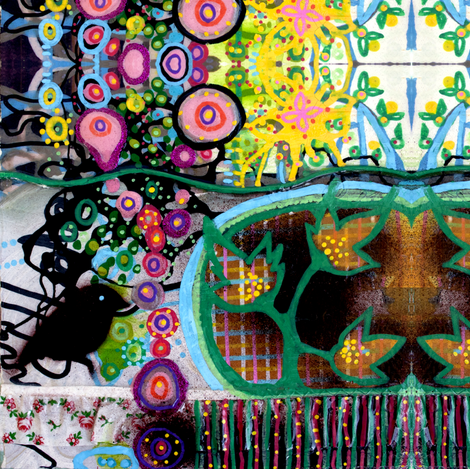 bird and flower II fabric by randi_antonsen on Spoonflower - custom fabric