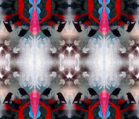 night in the woods fabric by randi_antonsen on Spoonflower - custom fabric