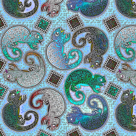 Chameleon Winter Chiller sv fabric by glimmericks on Spoonflower - custom fabric