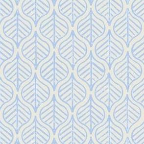 Indian Leaf / Cornflower Blue & Natural