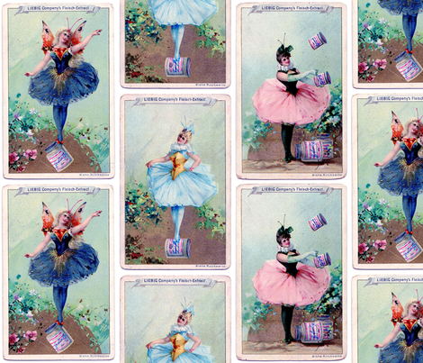 Vintage Fairies fabric by victoriagolden on Spoonflower - custom fabric