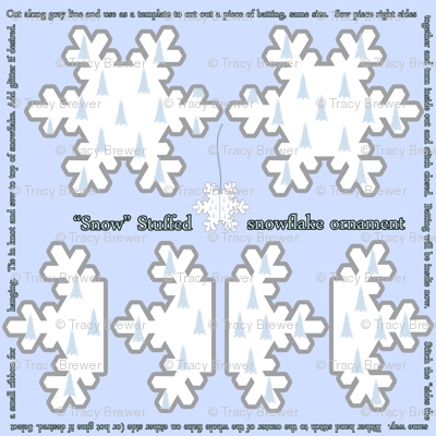 Snow Stuffed Snowflake Ornament
