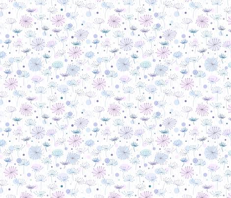 Herbs. Blue, violet. fabric by innaogando on Spoonflower - custom fabric