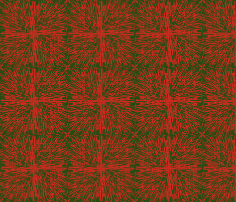 Christmas tablecloth red on green fabric by meredithjean on Spoonflower - custom fabric