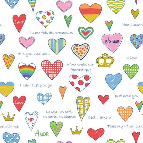 Love pattern fabric by innaogando on Spoonflower - custom fabric