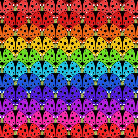 Ladybird Rainbow fabric by beth_snow on Spoonflower - custom fabric