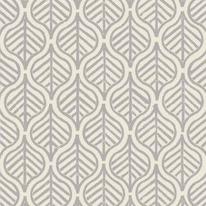 Indian Leaf / Gray & Natural