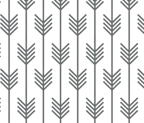arrows white  fabric by holli_zollinger on Spoonflower - custom fabric