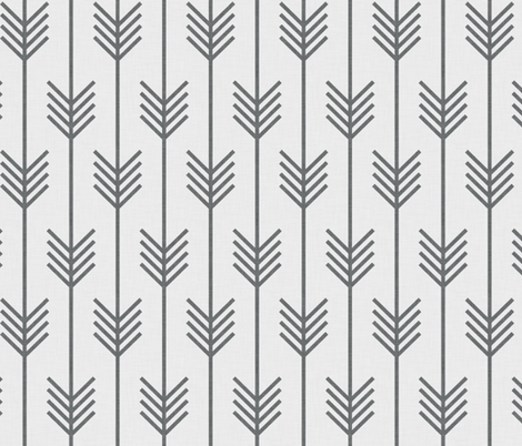 arrows white + gray fabric by holli_zollinger on Spoonflower - custom fabric