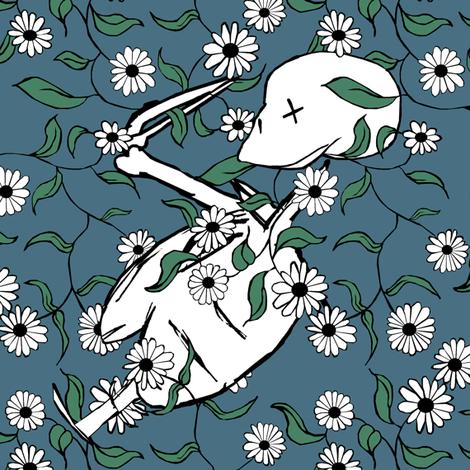 Halloween Flowers fabric by pond_ripple on Spoonflower - custom fabric