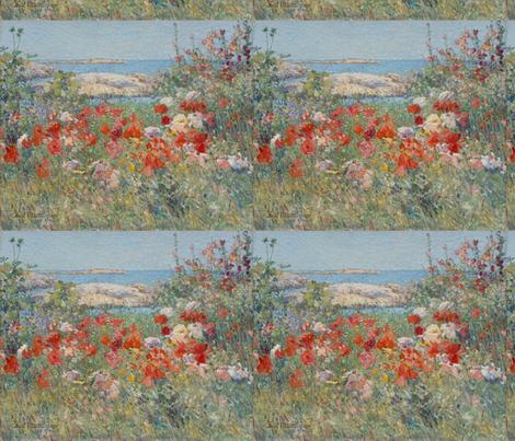 Celia Thaxter's Garden - 1890 - Childe Hassam fabric by studiofibonacci on Spoonflower - custom fabric
