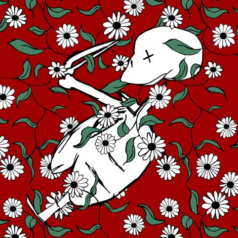 Halloween Flowers III. fabric by pond_ripple on Spoonflower - custom fabric