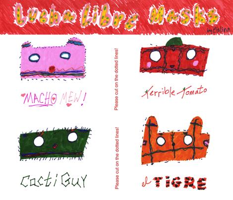 Lucha Libre Masks fabric by eislinn on Spoonflower - custom fabric