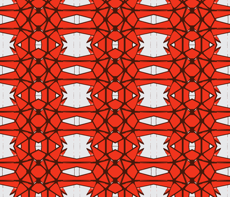 NYC Stars Orange Brown fabric by olivemlou on Spoonflower - custom fabric