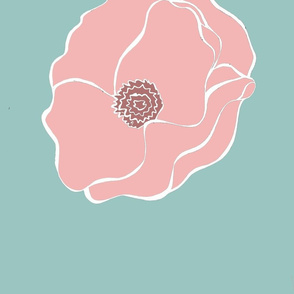 pink and blue poppy
