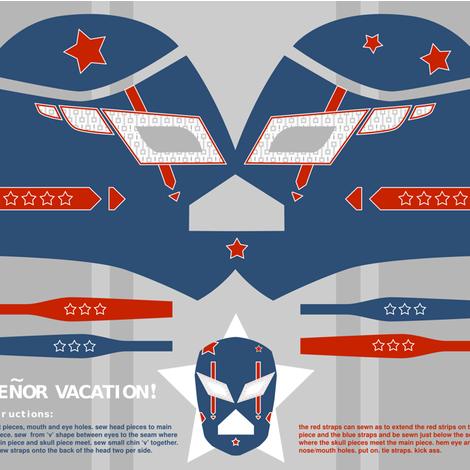 senor vacation USA! fabric by theboerwar on Spoonflower - custom fabric