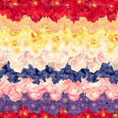 Floral Chevron Multi