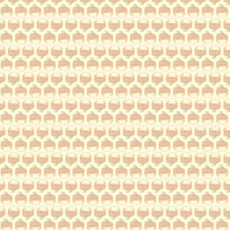 Acorn Cap fabric by beeskneesindustries on Spoonflower - custom fabric