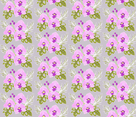 Purple Orchids fabric by garwooddesigns on Spoonflower - custom fabric
