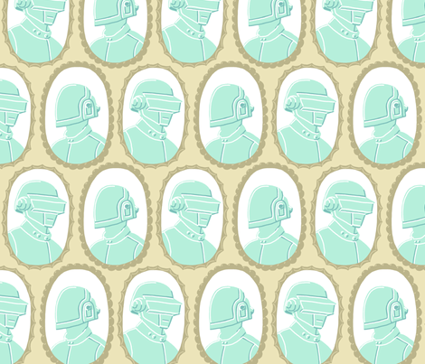 Daft Punk in Cameo fabric by mongiesama on Spoonflower - custom fabric