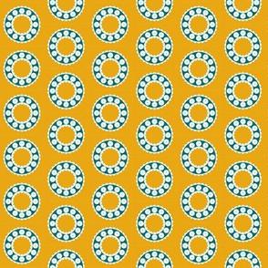 Ditzy Dress Circle - Gold