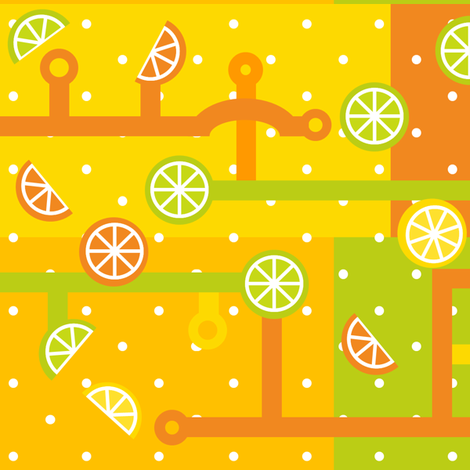 Citrus Circuits 101 fabric by lowa84 on Spoonflower - custom fabric