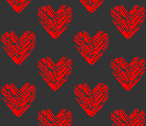 Heart of Knives fabric by teaandcraft on Spoonflower - custom fabric