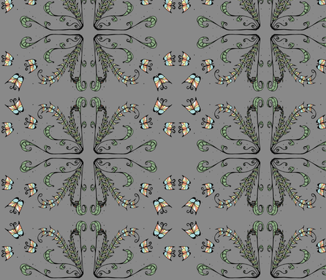 Frilly Flutterby  fabric by garwooddesigns on Spoonflower - custom fabric
