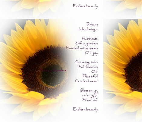 Sunflower Dream Poem fabric by peacefuldreams on Spoonflower - custom fabric