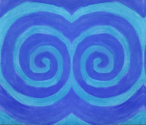 Blue Spiral fabric by queeninmyownmind on Spoonflower - custom fabric