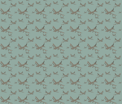 military aircraft fabric by yellow_parade on Spoonflower - custom fabric