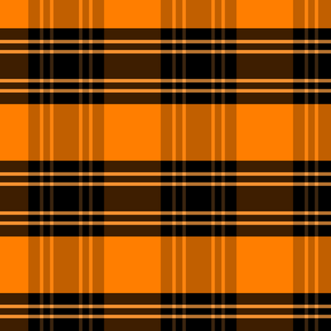 Halloween Plaid: Mirror Repeat fabric by pond_ripple on Spoonflower - custom fabric