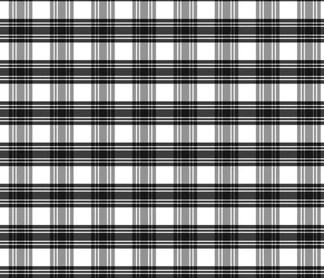 Black & White Plaid fabric by pond_ripple on Spoonflower - custom fabric