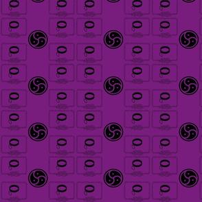 J.A.W. purple rope-ch