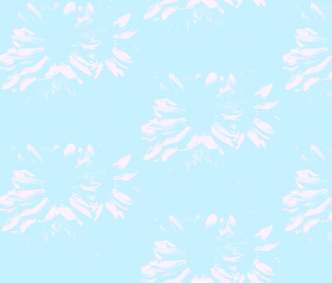 Light Aqua with Flowers fabric by peacefuldreams on Spoonflower - custom fabric