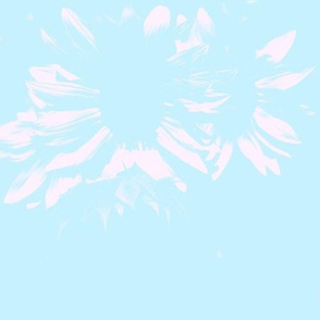 Light Aqua with Flowers