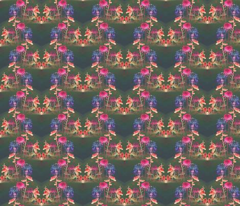 spring_flowers_at_night fabric by vinkeli on Spoonflower - custom fabric