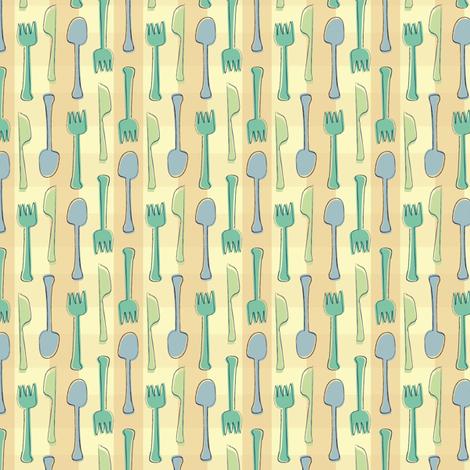 utensils fabric by lighthearts on Spoonflower - custom fabric