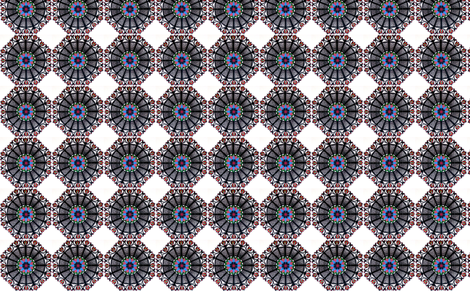 Gwiazdy_Garden_II fabric by alisalahti on Spoonflower - custom fabric