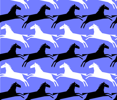 periwinkle horsetooth fabric by slothdaddy on Spoonflower - custom fabric