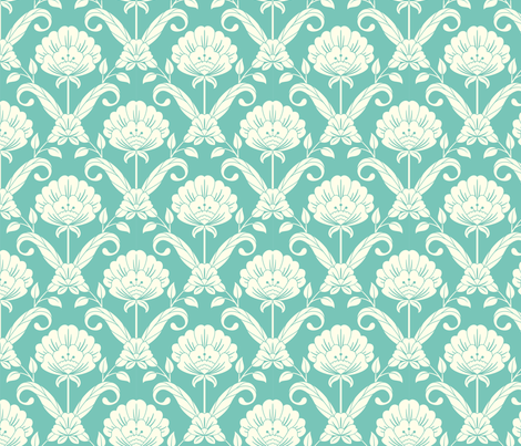 Floral Damask fabric by clairicegifford on Spoonflower - custom fabric