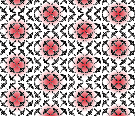 flock block red fabric by atomic_bloom on Spoonflower - custom fabric