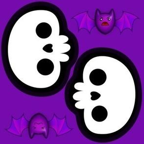 bats and a skull