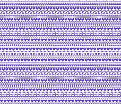 Fair Isle Blue fabric by lydia_meiying on Spoonflower - custom fabric