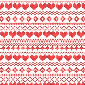 Fair Isle Red & White