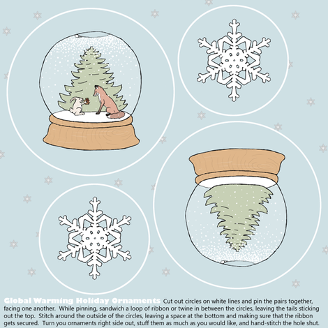 global warming ornament set fabric by doodleandhoob on Spoonflower - custom fabric